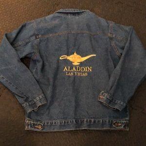 Aladdin Las Vegas blue denim vintage jean jacket